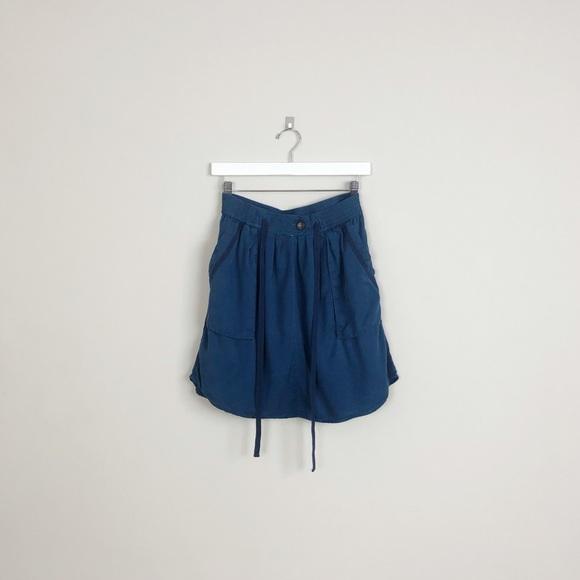 Anthropologie Dresses & Skirts - Anthropologie | maeve blue short tie mini skirt